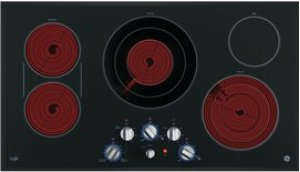"GE Cafe 36"" Electric Cooktop with Infinite Knob Control"