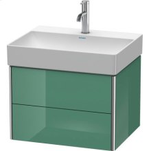 Vanity Unit Wall-mounted, For Durasquare # 235360jade High Gloss Lacquer