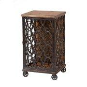 Wood & Metal Wine Rack Product Image