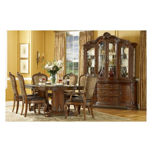 Old World Double Pedestal Dining Table