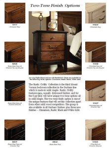 Rustic Civility Collection Finishes