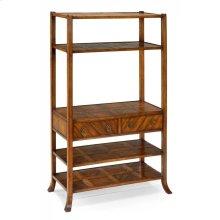 Walnut parquet shelf