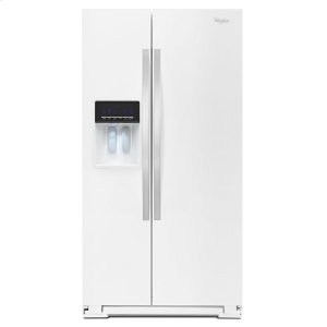 36-inch Wide Side-by-Side Refrigerator with Temperature Control - 26 cu. ft. - WHITE