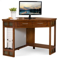 Rustic Oak & Slate Corner Computer/Writing Desk #89430