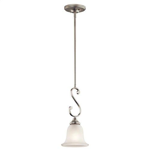 Monroe 1 Light Mini Pendant with LED Bulb Brushed Nickel