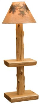 Floor Lamp Without Lamp Shade, Natural Cedar Product Image