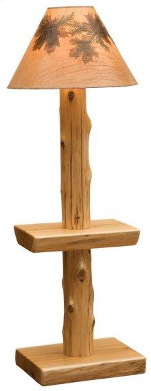 Floor Lamp Without Lamp Shade, Natural Cedar