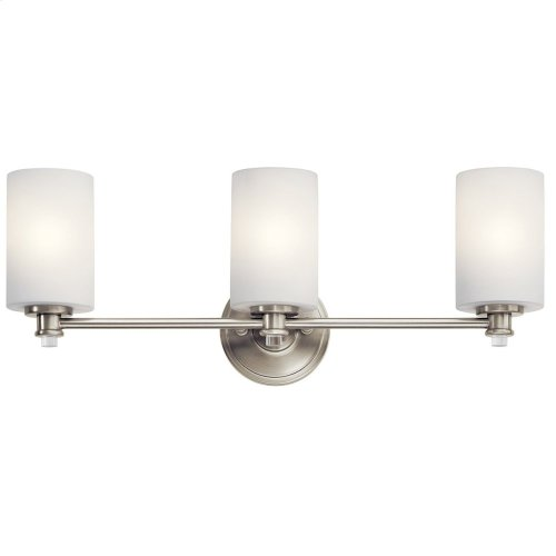 Joelson 3 Light Vanity Light with LED Bulb Brushed Nickel