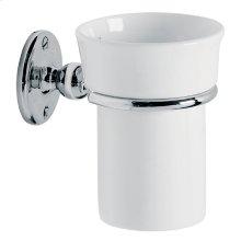 Edwardian china mug and holder
