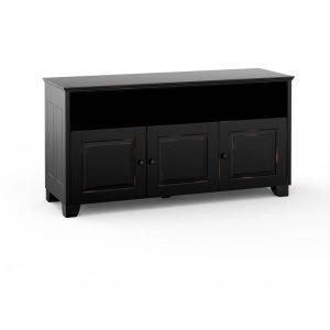 Salamander DesignsHampton 345, Quad-Width AV Cabinet, Distress Black