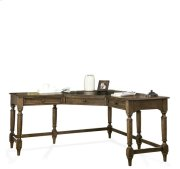 Cordero Corner Desk Aged Oak finish Product Image
