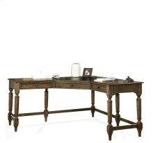 Cordero Corner Desk Aged Oak finish