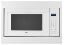 """27"""" Trim Kit for Countertop Microwaves - Black-on-Stainless"""