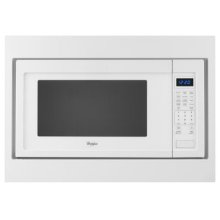 "27"" Trim Kit for Countertop Microwaves - Black-on-Stainless"