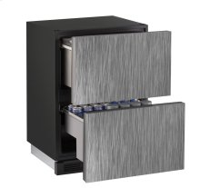 """1000 Series 24"""" Solid Refrigerator Drawers With Integrated Solid Finish and Drawers Door Swing (115 Volts / 60 Hz)"""