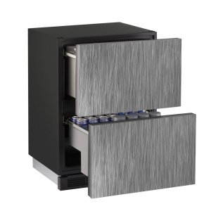 "U-Line1000 Series 24"" Solid Refrigerator Drawers With Integrated Solid Finish and Drawers Door Swing (115 Volts / 60 Hz)"