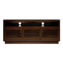No Tools Assembly Chocolate Finish Wood A/V Cabinet This impressive Chocola...
