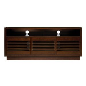 No Tools Assembly Chocolate Finish Wood A/V Cabinet This impressive Chocola... -