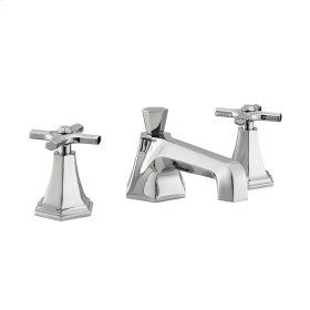Waldorf Crosshead Low Spout Widespread Lavatory Faucet