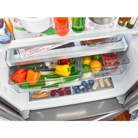Beau Whirlpool® 36 Inch Wide French Door Refrigerator With Infinity Slide Shelf    32 Cu