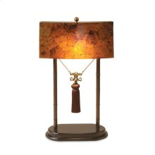 TABLE LAMP W/PENSHELL SHADE