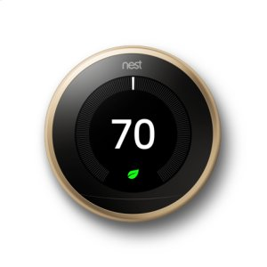 Nest Learning Thermostat - 3rd generation, Brass: 2 pack