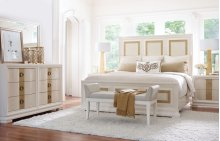 Tower Suite - Pearl Finish Panel Bed Queen 5/0