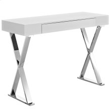 Sector Stainless Steel Console Table in White