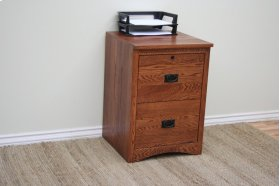 """O-M178 Mission Oak 2-Drawer Letter File Cabinet, 17 7/8""""W x 17""""D x 30""""H"""