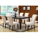 """DINING TABLE - 40""""X 60""""X 78"""" / ESPRESSO TOP WITH A LEAF Product Image"""