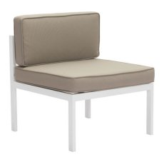 Golden Beach Middle Chair White & Taupe Product Image