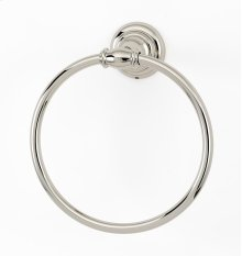 Charlie's Collection Towel Ring A6740 - Polished Nickel