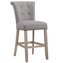 Selma 26'' Counter Stool, set of 2, in Grey with Vintage Oak Legs