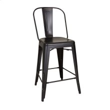 Bow Back Counter Chair - Black (RTA)
