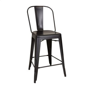 LIBERTY FURNITURE INDUSTRIESBow Back Counter Chair - Black (RTA)