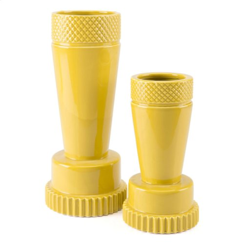 Inca Vase Lg Yellow