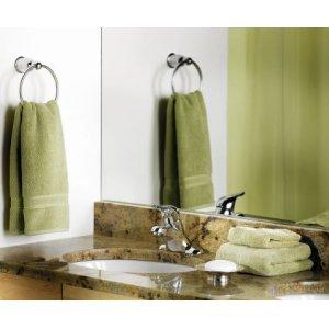 Mason chrome towel ring