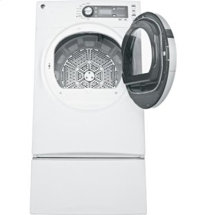 GE® 7.5 cu. ft. capacity frontload dryer with Steam and stainless steel drum