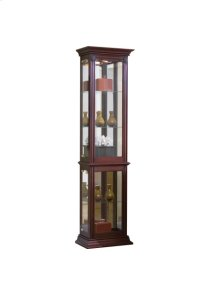 Gallery Style 4 Shelf Curio Cabinet in Warm Cherry Brown