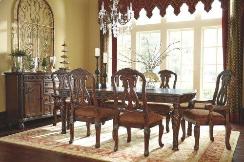 North Shore - Dark Brown 8 Piece Dining Room Set