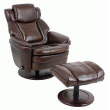 Chair-pedestal recline w/ottoman
