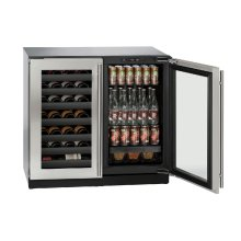 "Modular 3000 Series 36"" Beverage Center With Stainless Frame Finish and Double Doors Door Swing (115 Volts / 60 Hz)"