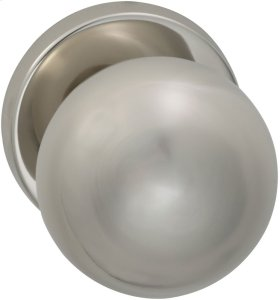 Interior Modern Knob Latchset in (US14 Polished Nickel Plated, Lacquered)