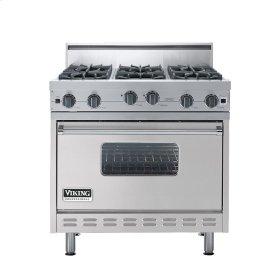 "Metallic Silver 36"" Open Burner Range - VGIC (36"" wide, six burners)"