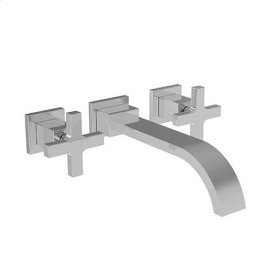 Gloss Black Wall Mount Lavatory Faucet