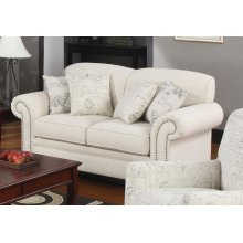 Norah Traditional Oatmeal Loveseat