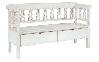 Jo's White Hall Bench