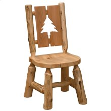 Cut-out Side Chair - Pine Tree - Natural Cedar - Wood Seat