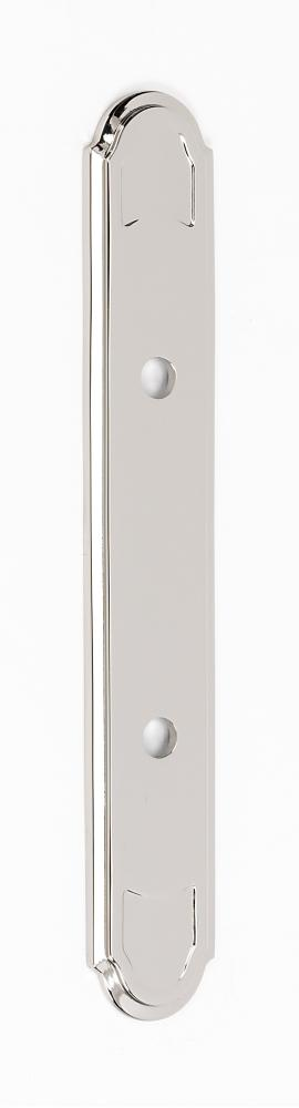 Classic Traditional Backplate A1568-3 - Polished Nickel