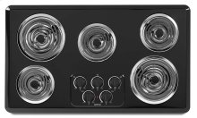 36-inch Wide Electric Cooktop with Two Power Cook Elements
